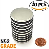 Magnissimo! Neodymium Magnets N52 [10 pcs] Earth Magnets Disc 1.26