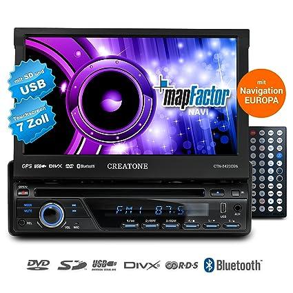 1DIN Autoradio mit Navigation, Bluetooth, DVD-Player und USB/SD-Funktion CREATONE SL-8423D26