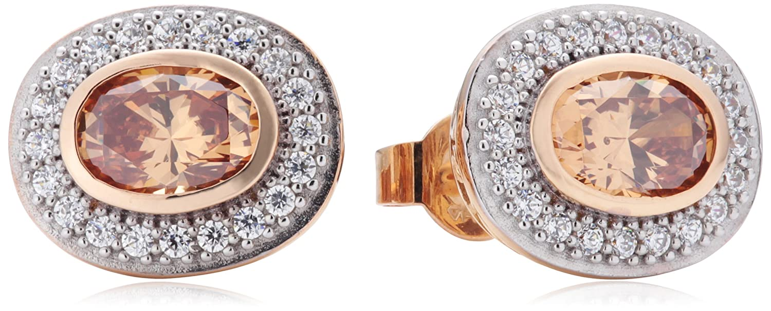 Diamonfire Damen-Ohrstecker 925 Sterling Silber Zirkonia Fancy Colours Linie orange 62/1541/1/133 jetzt bestellen