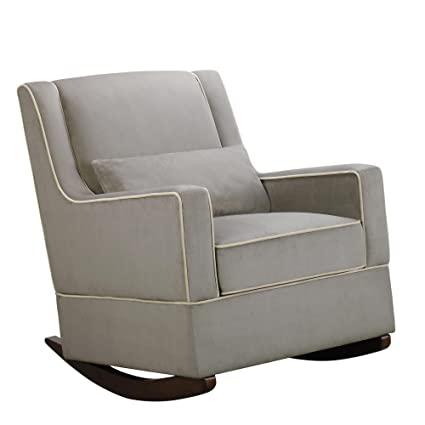 Amazon.com: Baby Relax The Sydney Nursery Microfiber Rocker Chair and Free Lumbar Pillow, Dark Taupe: Baby