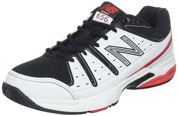 (半价)New Balance 新百伦 男款 MC656 强化 护踝 网球鞋 黑白拼色 $40.98