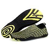 Men Women's Multifunctional Quick Dry Skin Water Shoes Aqua Socks for Swim Yoga Beach Pool Feet Length 246 Yellow