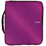 Five Star 2 Inch Zipper Binder, 3 Ring Binder, 6-Pocket Expanding File, Durable, Berry Pink/Purple (72540)