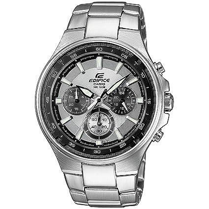 CASIO EF562D7AVEF - Reloj de caballero de cuarzo, correa de acero inoxidable color blanco