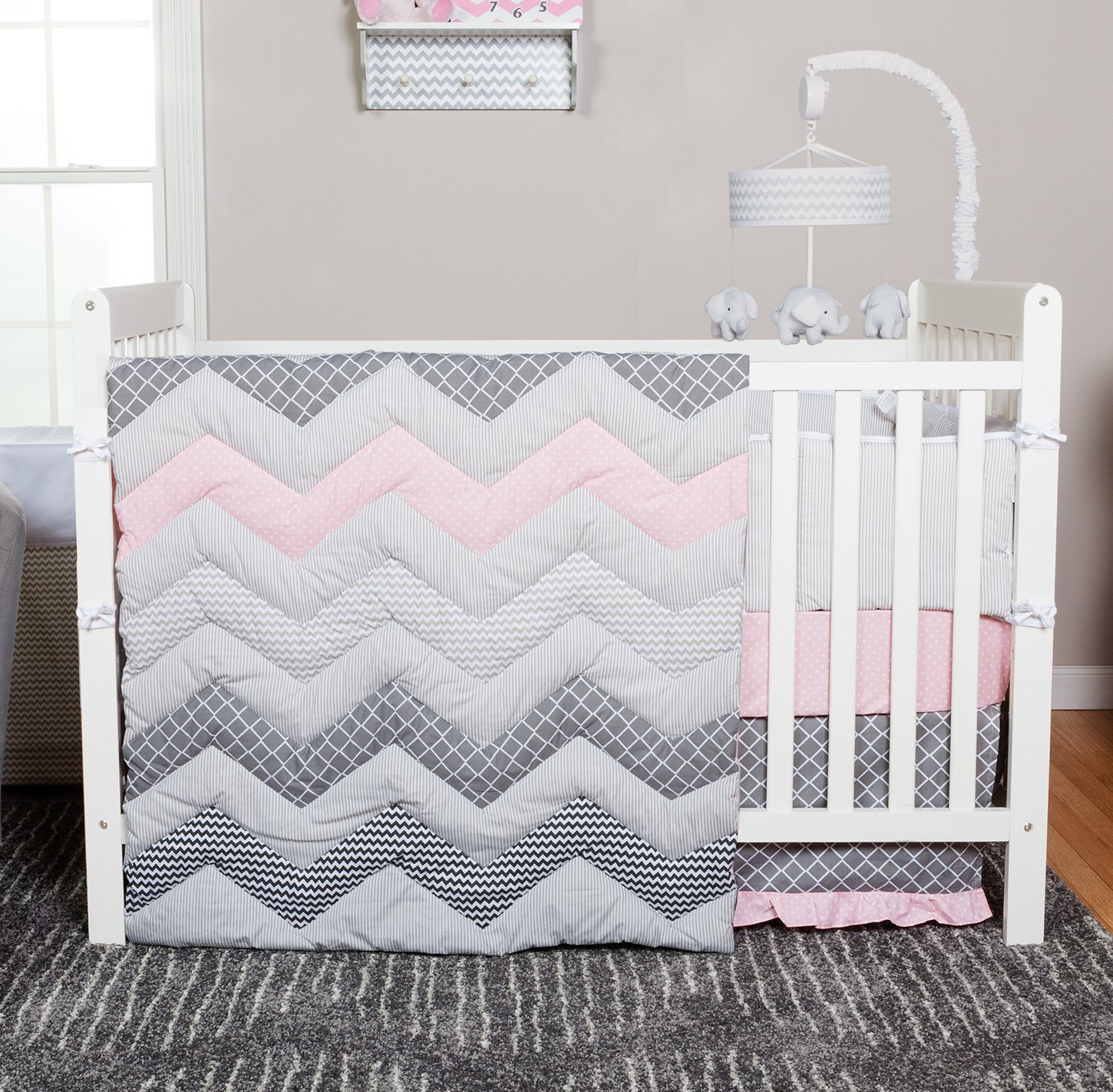 Trend Lab Chevron Cotton Candy Crib Bedding