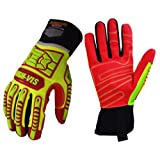 Seibertron HIGH-VIS HRIG Anti Impact Work Gloves Hi-Vis Oil and Gas Water Resistant Safety Heavy Duty Utility Mechanic Rigger Glove with TPR Protection Yellow Red CE EN388 4132 XL (Color: HRIG, Tamaño: HRIG-XL)