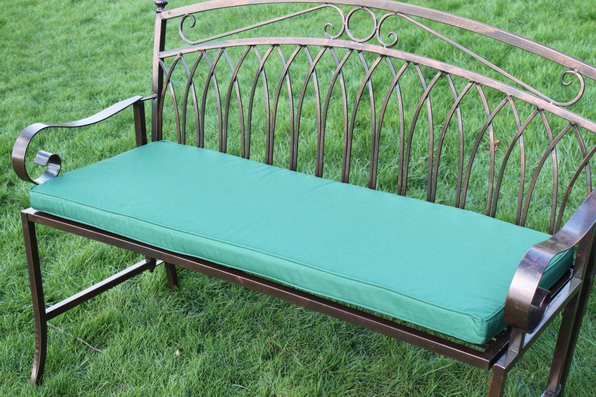 Gartenmöbel-Auflage - Auflage für 2-Sitzer-Metall-Gartenbank in Grün