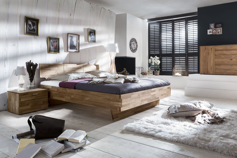 SAM® Massives Holzbett Cielo aus Wildeiche 140 x 200 cm online bestellen