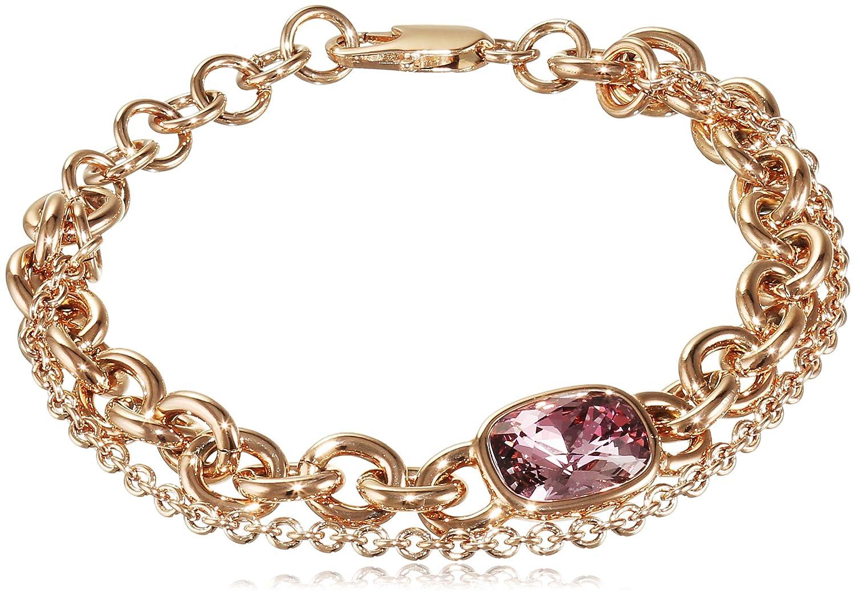 Dyrberg/Kern Damen-Armband 15/02 Elisa/B Rg Ant Rose Messing teilvergoldet Kristall pink 23 cm – 337638 jetzt kaufen