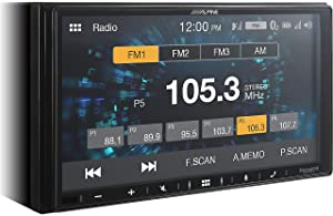 Alpine iLX-W650 Receiver Compatible with CarPlay and Android Auto - Includes KTA-450 4-Channel Power Pack Amp