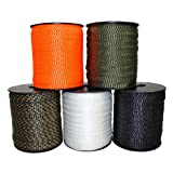Polyester Webbing (5/8 inch) - SGT KNOTS - Flat Rope - Durable Polyester Pull Tape Strap - Moisture, UV, Rot, Oil Resistant - Utility, Arborist, Gardening, Marine, Commercial (3,000 ft - Black) (Color: Black, Tamaño: 5/8 in x 3,000 ft)