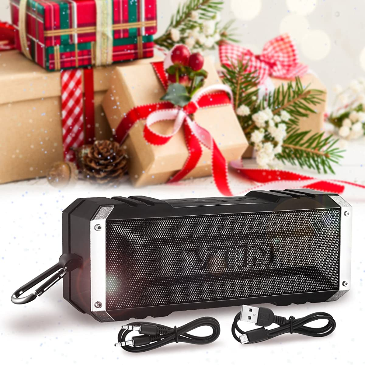 Vtin 20 Watt Waterproof Bluetooth Speaker, 25 Hours Playtime Portable Outdoor Bluetooth Speaker, Wireless Speaker for iPhone, Pool, Beach, Golf, Home