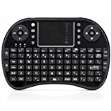 Mini teclado inalámbrico LotFancy®, 2.4 GHz, con touchpad, para PC, Pad, Andriod TV Box, Google TV Box, Xbox 360, PS3 y HTPC IPTV, color negro