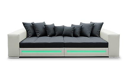 Ecksofa Safir Eckcouch Sofa Couch Bigsofa Big XXL Schlafsofa LED 01356