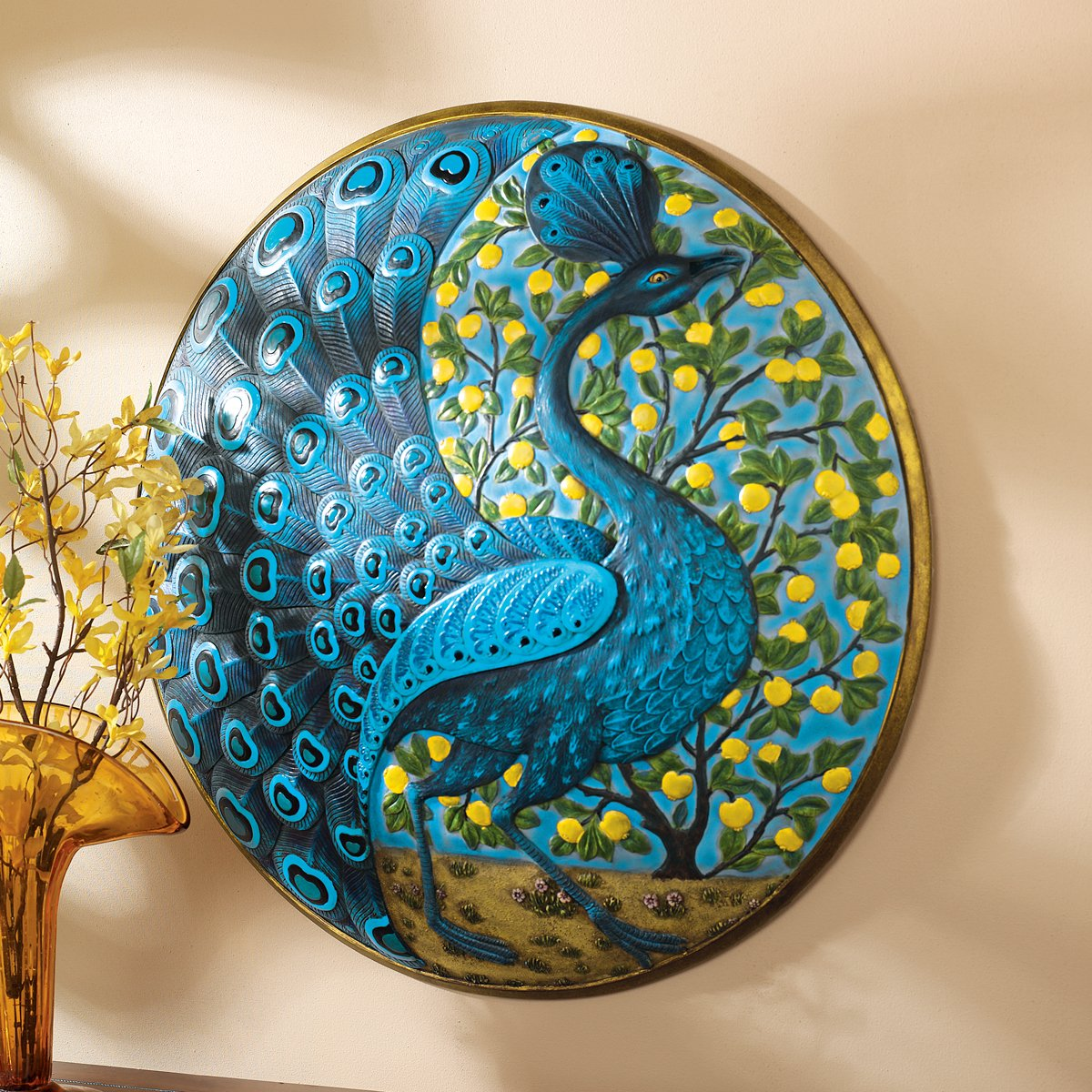 Beautiful Peacock Wall Decor Ideas Panels Plaques And Masks