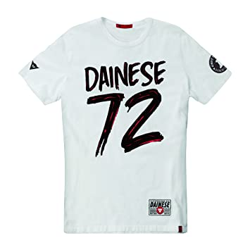 Dainese 1896354_003_M 72 T-Shirt, Rouge, Taille : 38
