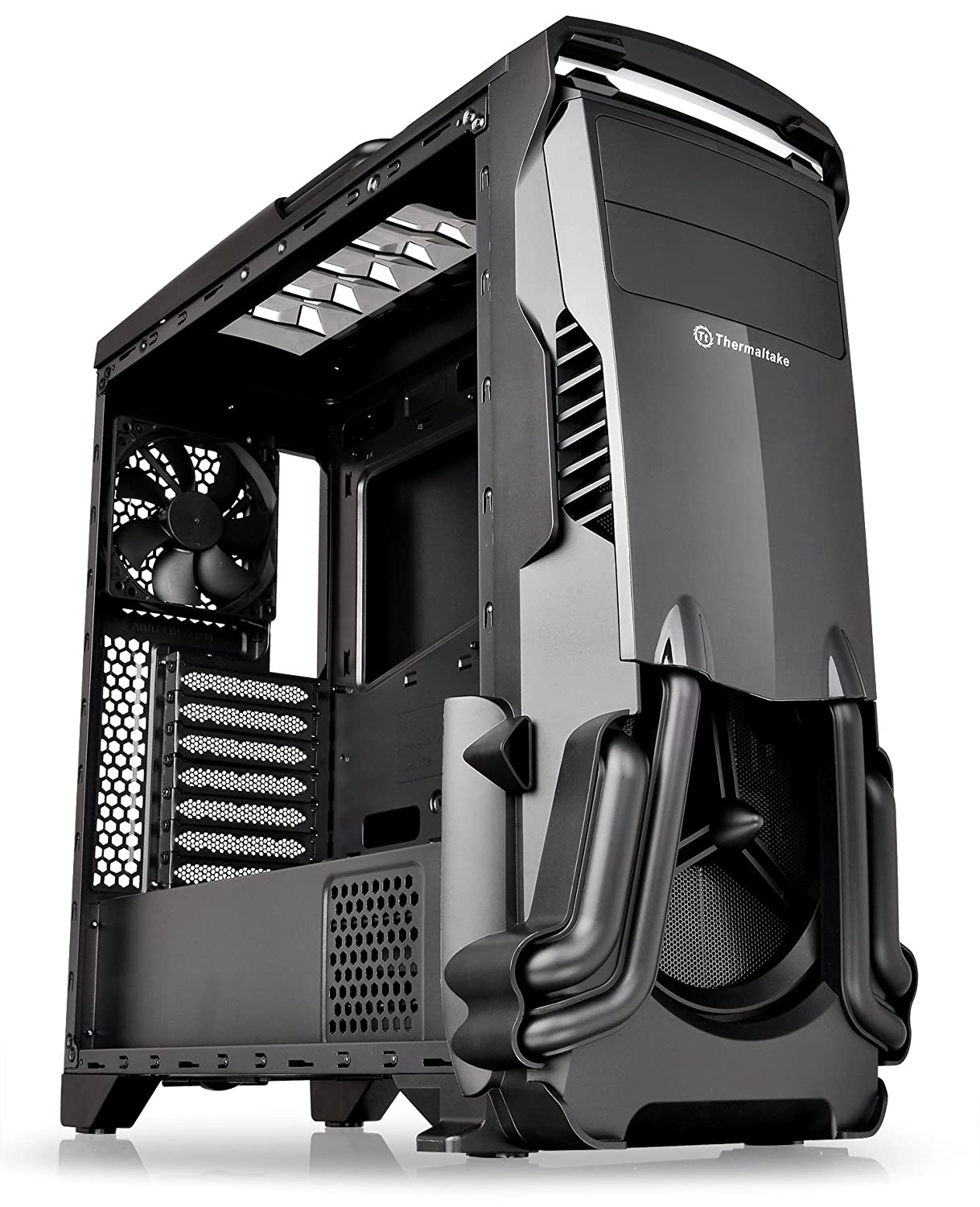 Thermaltake VERSA N24 Black ATX Mid Tower Gaming Computer Case with Power Supply Cover CA-1G1-00M1WN-00