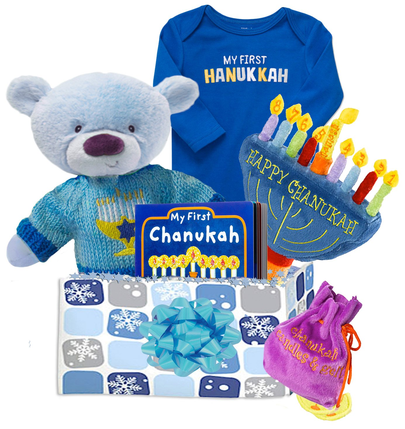 Hanukkah gift basket for baby
