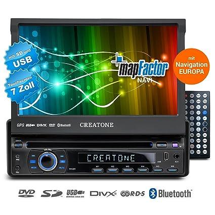 1DIN autoradio avec navigation, Bluetooth, lecteur DVD et USB / SD-fonction CREATONE SL-8422D26
