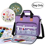 Luxja Embroidery Project Bag, Embroidery Kits Storage Bag (Bag Only), Purple (Color: Purple)