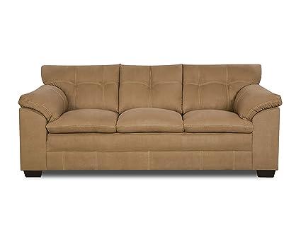Simmons Upholstery 6765-03 Velocity Latte Sofa