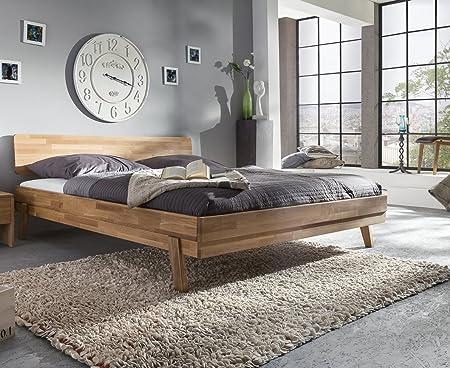 woodlive Livia letto in legno di rovere trattato naturale 180X 200