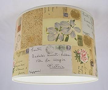 abat jour fait main 41cm 41cm rossi vintage lettres cuisine maison m71. Black Bedroom Furniture Sets. Home Design Ideas