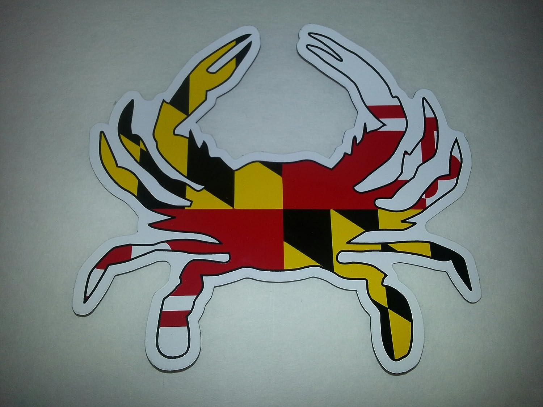 Maryland Flag Crab Decal Maryland Flag Crab Magnet