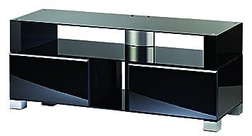 """VCM """"Porano 120"""" TV-Furniture Front Including Role Set, Black"""