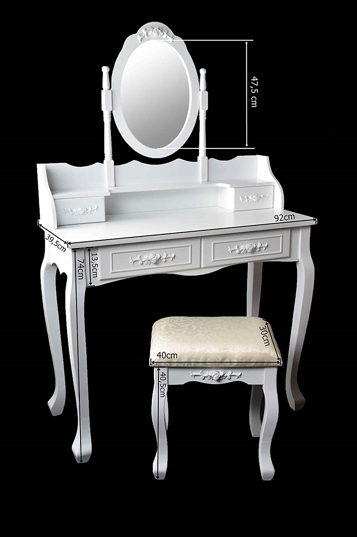 marry coiffeuse coiffeuse coiffeuse avec miroir tabouret. Black Bedroom Furniture Sets. Home Design Ideas