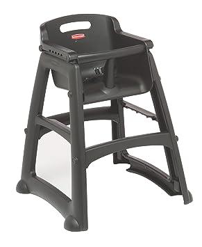 rubbermaid-robusto Baby sedia con piedi, colore: Nero, 756(H) x 597(W) x 597(D)mm, Black, 1