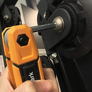 MulWark 17pcs Ball End Hex Key Driver for Hex Socket Screws | Multi-Angle Folding Allen Wrench Tool Set | Metric & SAE - 2 Pack