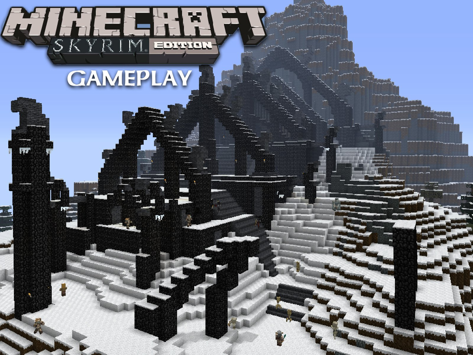 Clip: Minecraft Skyrim Edition Gameplay