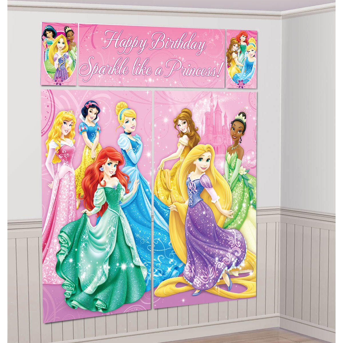 Disney princess party wall decorations birthday girls wikii disney princess party wall decorations amipublicfo Gallery