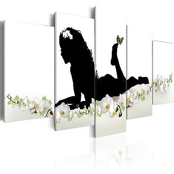 impression sur toile toile 200x100 cm grand format 5 parties parties image sur toile. Black Bedroom Furniture Sets. Home Design Ideas