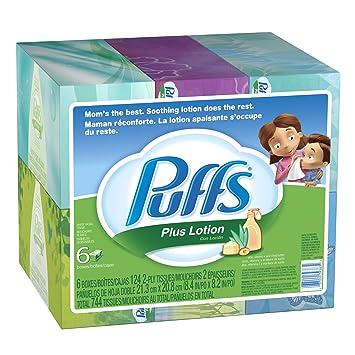 Amazon - Puffs Plus Lotion Facial Tissues Family Boxes, 124 - $7.80