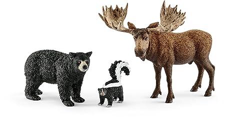 Schleich - 41456 - Habitants de La Forêt Amérique du Nord