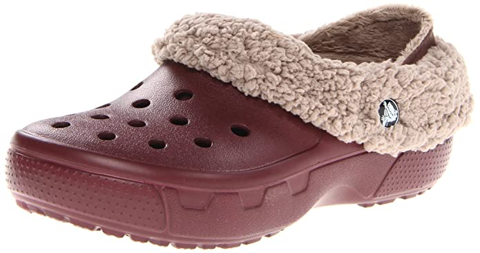 crocs Unisex Mammoth EVO Lined Clog,Burgundy/Mushroom,6 M US