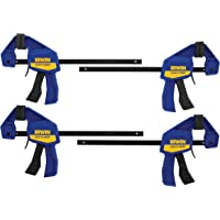 4-Pack Irwin 5464 Quick Grip One-Handed Mini Bar Clamp Tool