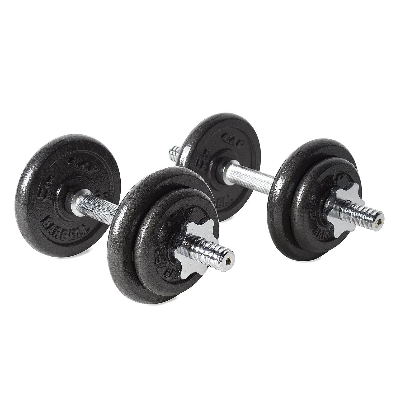 Adjustable 200 Lb Dumbbells: CAP Barbell 40-pound Adjustable Dumbbell Set With Case