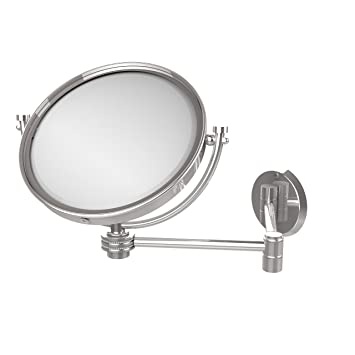 Allied Brass WM-6D/5X-PC 8-Inch Wall Mirror with 5x Magnification, Extends Up to 14-Inch, Polished Chrome