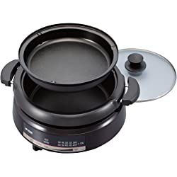 Tiger CQE-A11U T Electric Grill Pan with 2-Way Style Pans