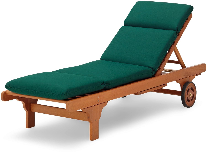 Hardwood chaise lounge sunbrellla cushion reversible for Acrylic chaise lounge