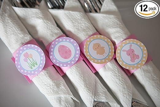 Set Of Six Spring Napkin Rings Easter Napkin Rings Flowers Napkin Rings Pansies Napkin Rings