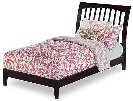 Atlantic Furniture Orleans Open Foot Bed, Twin, Espresso