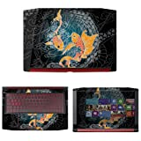 decalrus - Protective Decal Koi Fish Skin Sticker for Acer Nitro 5 AN515-51 (15.6