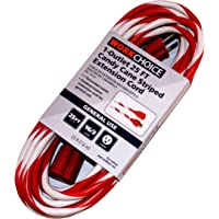 WorkChoice 25-ft 1-Outlet Outdoor Candy Cane Striped Extension Cord