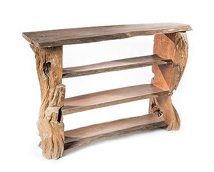 windalf rustikales Regal ~ Gandalf ~ H: 82cm–Hobbit di mobili pezzi–lavorata a mano in legno di teak Radice (wm1331)