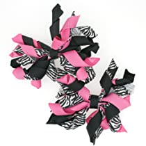 Mini Korker Hair Bow Clips Set of 2