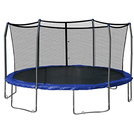 Skywalker Oval Trampoline and Enclosure 17-Feet with Wind Stakes